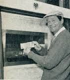 27th June 1967. The World's first automatic cash machine opened at Barclay's Enfield Branch by actor, Reg Varney.