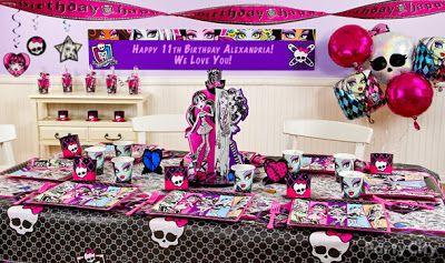 Decoración de Fiestas de Monster High : Fiestas Infantiles Decoracion