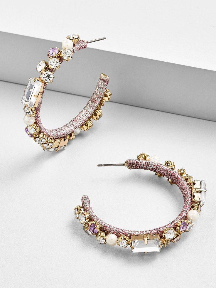 Baublebar Elysian Hoop Earrings Lavender Diamondearrings Jewelry Fine Jewelry Earrings Handmade