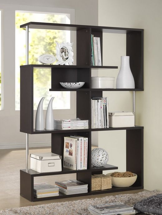Wholesale Interiors Baxton Studio Kessler Dark Brown Modern Bookshelf - Tall Height