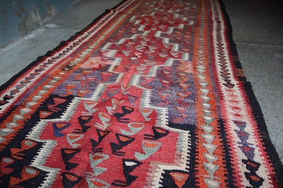 4 X 10 Ft Antique Four Medallion Kurdi Turkish Runner Natural Vegeatable Dye Washable Hall Way Runner Beautiful Hand Spoon Wool Faded Mute Antiques Wool Weaving Textiles