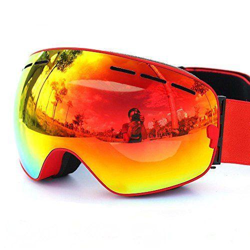 Relefree Ski Lunettes Masque de Protection Snowboard Anti-UV Anti-buée Lunettes Sporting d'Hiver (rouge): Description: Protégez les yeux de…