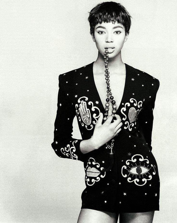 Campaign: Rifat Ozbek Season: 1988 Models: Naomi Campbell Photographer: Steven Meisel
