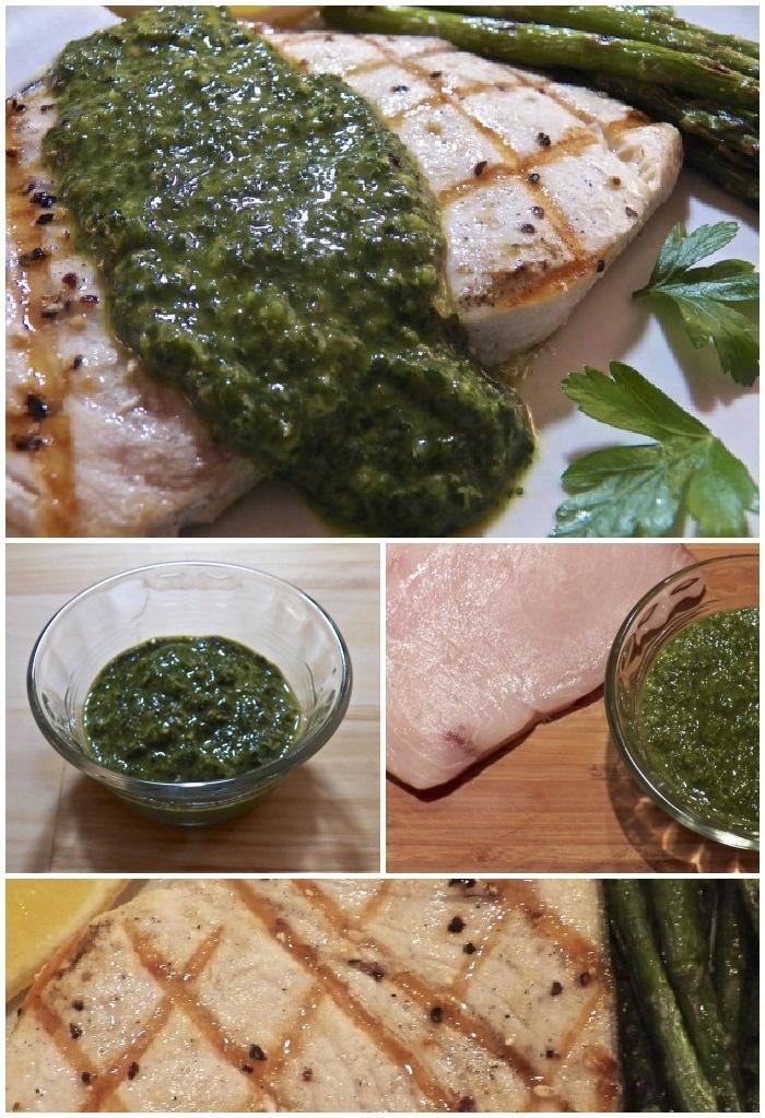 Grilled Swordfish with Salsa Verde - Pesce Spada alla Griglia con Salsa Verde