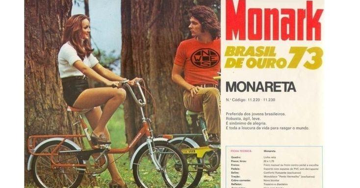 A bicicleta Monareta foi o maior sucesso da história da brasileira Monark. Começou a ser fabricada nos anos 60 e saiu de circulação na década de 80
