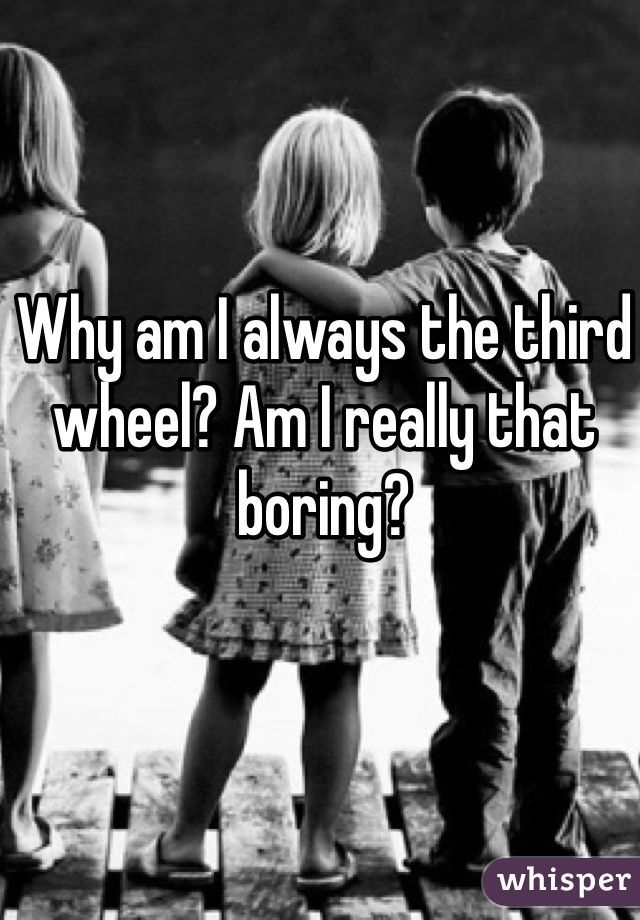 Whisper App.  Confessions from third wheels.