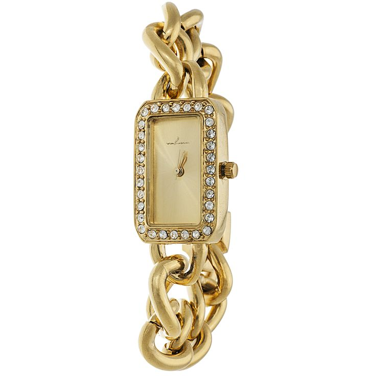 Xtreme Via Nova Women's Case and Rectangle Dial with Chain Strap Watch