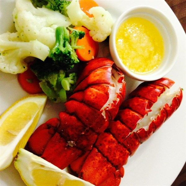 """Lobster Tails Steamed in Beer   """"Steamed lobster tails with a hint of beer. Goes great with melted butter, lemon juice and garlic."""" #recipe #newyears #resolution"""