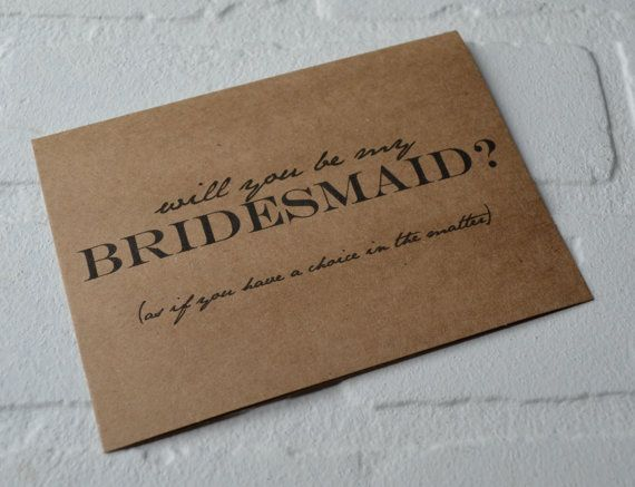 Will you be my BRIDESMAID card AS IF you by invitesbythisandthat