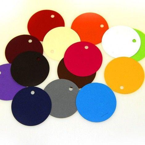 Etiquetas redondas de colores (x12)