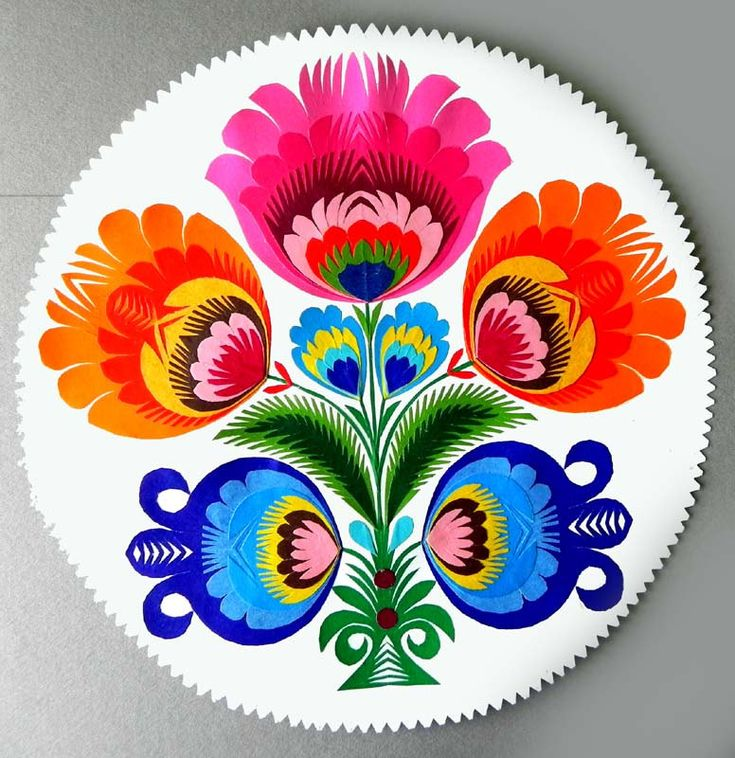 cut out: Cookies Ideas, Colors Paper, Polish Folk Art, Paper Art, Awesome Polish, Colors Rainbows, Polish Paper, Folkart, Bright Colors