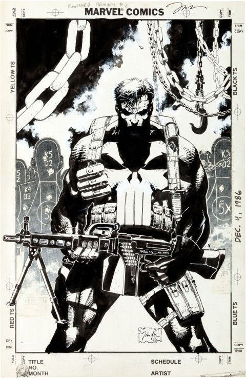 Jim Lee Posters | Punisher Armory issue 2 by Jim Lee. Source .