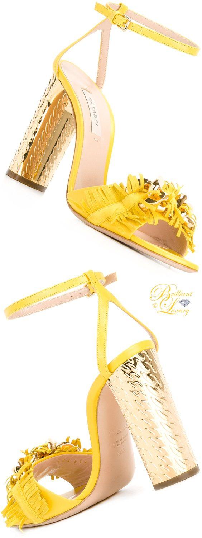 Brilliant Luxury by Emmy DE ♦ Casadei frayed block heel sandals