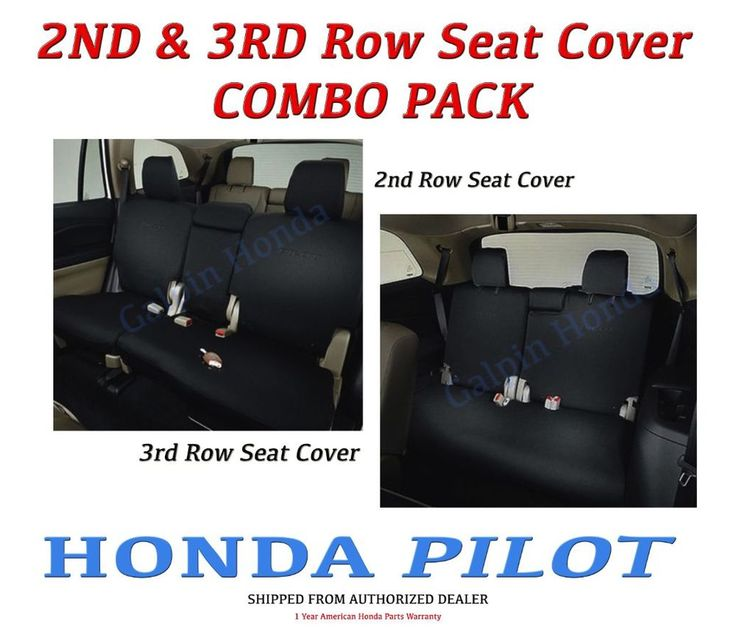 Genuine OEM Honda Pilot 2nd & 3rd Row Seat Covers for EX-L / Touring Models 2016  | eBay