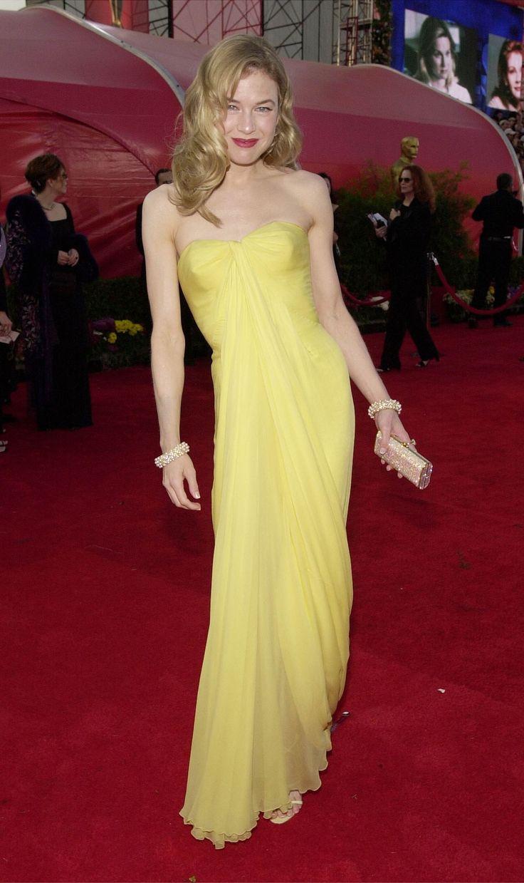 2001 strahlte Renée Zellweger in einem gelben Vintagekleid von Jean Desses auf dem roten Teppich.