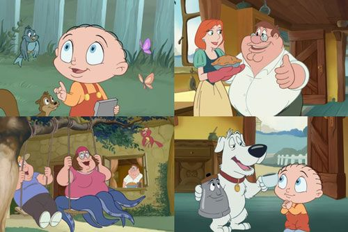Family Guy as Disney Characters this episode was so weird xD