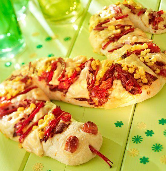 Schlangen-Pizza – balloonas – Ideen für Deinen Kindergeburtstag