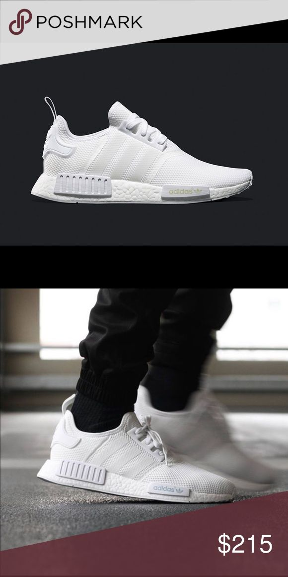 "New deadstock NMD R1 Triple White New deadstock Adidas NMD R1 Triple White Size 5  Part of the super limited adidas NMD_R1 ""Colorboost"" pack. Three monochrome colorways with mesh upper and full boost sole. Reflective details.   With receipt from Foot Locker $215 or best offer. Adidas Shoes Sneakers"