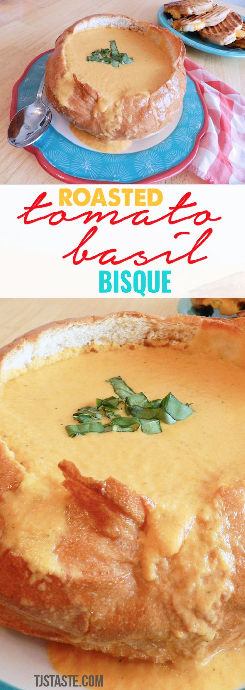Roasted Tomato Basil Bisque - Tomato Basil Bisque - Tomato Bisque - TJsTaste.com #THM XO #TrimHealthyMama #lowglycemic #recipe