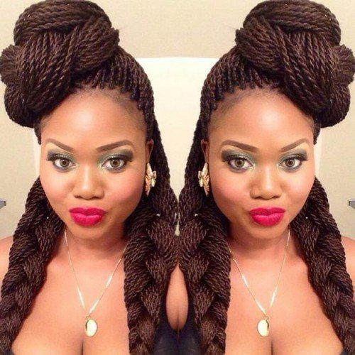 40 Senegalese Twist Hairstyles for Black Women   herinterest.com - Part 2