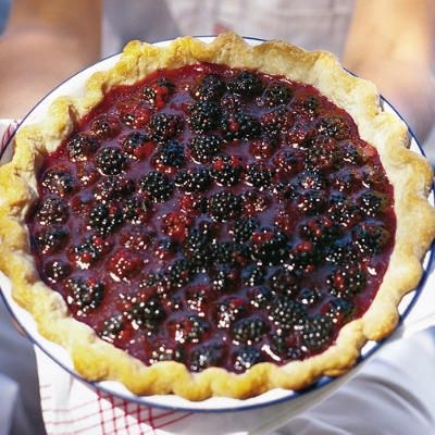 No bake (other than crust) blackberry pie - Southern Living !  DELICIOUS!  Make this at least twice a month during the summer for MZ!