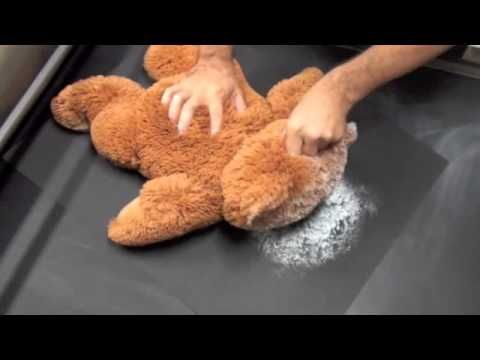 """This video show how to make a """"rolled print"""" of a stuffed animal you no longer want to keep.....clever. It does requite some equipment to do correctly though."""
