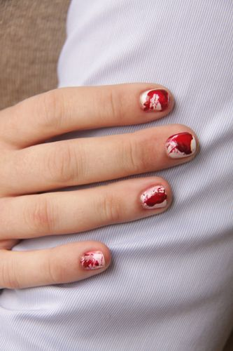 Dexter inspired nails.