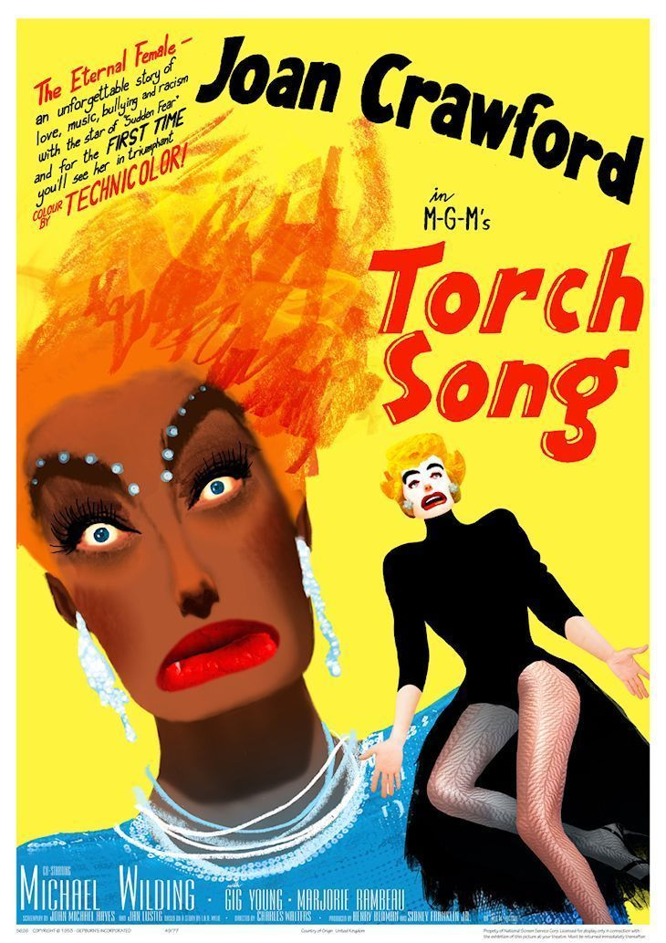 """This is a RARE 16mm I B TECHNICOLOR print of """"TORCH SONG"""", a 1953 MGM release, directed by CHARLES WALTERS, starring JOAN CRAWFORD in her splashy TECHNICOLOR debut. Print is in nice shape, with DAZZLING three-strip, dye-transfer I B TECHNICOLOR, and no vinegar. 
