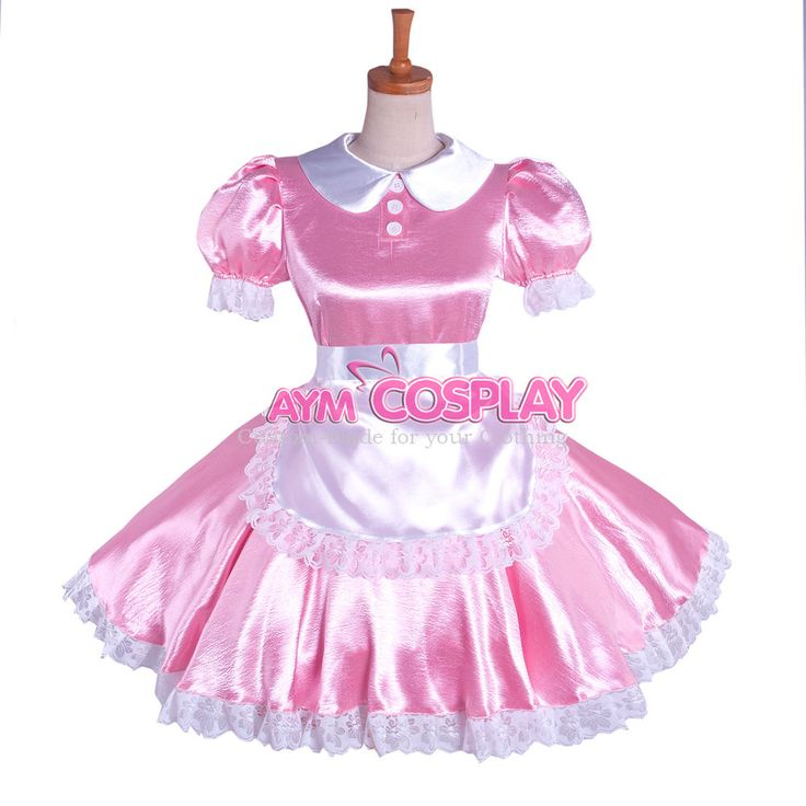 lockable Sissy maid  dress satin  Unisex Cosplay Tailor-made[G1085]  | eBay
