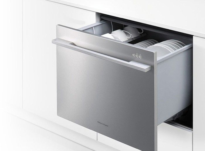 Drawer dishwasher wat wat? I'd take a smaller sink for one of these!  Fisher-Paykel-DishDrawer-Remodelista