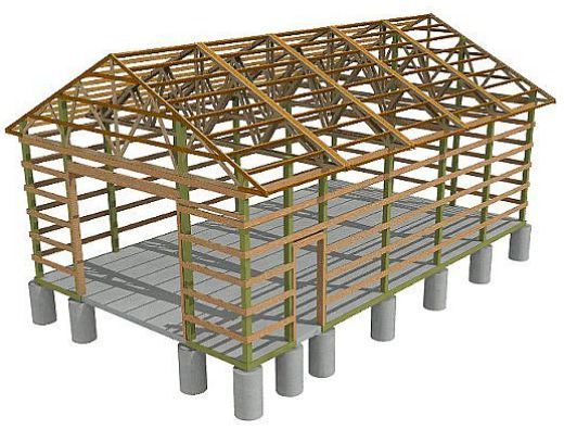 38 best pole barn designs and floor plans images on for How to build a pole barn plans for free