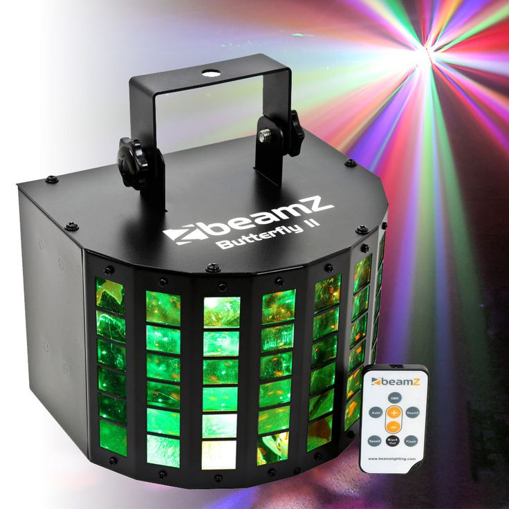 The Butterfly II is an update of the previous model. More LEDs, more colour and more control. You can now produce 48 beams in 6 different colours, totalling up to 288 single beams. All of this can be controlled with the supplied remote control (infra-red). | eBay!