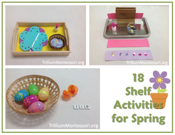 18 Montessori Style Shelf Activities for Spring