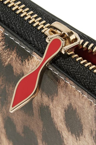 Christian Louboutin - Panettone Dégradé Leopard-print Leather Continental Wallet - Brown - one size