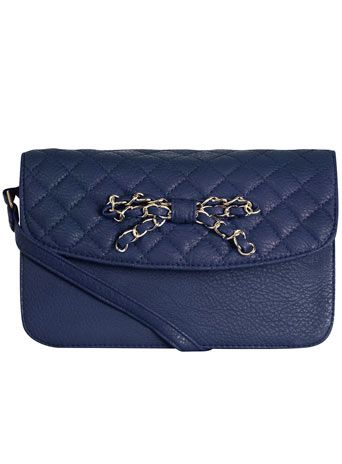 Navy chain bow crossbody bag: Crossbodi Bags, Covet Bags, Chains Bows, Navy Quilts, Fabulous Bags, Navy Chains, Bows Crossbodi, Bows Pur, Quilts Bows