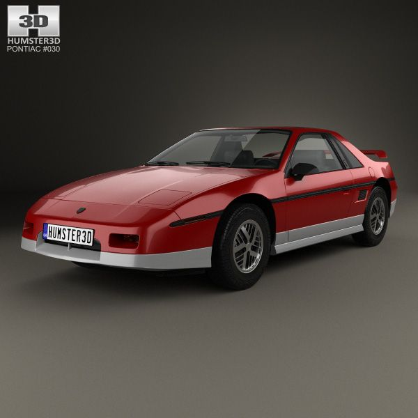 Pontiac Fiero GT 1985 3d model from Humster3D.com.