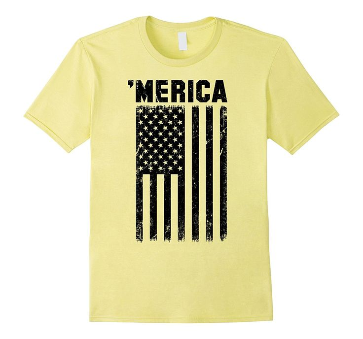 Vintage Subdued Black American Flag Merica T-Shirt
