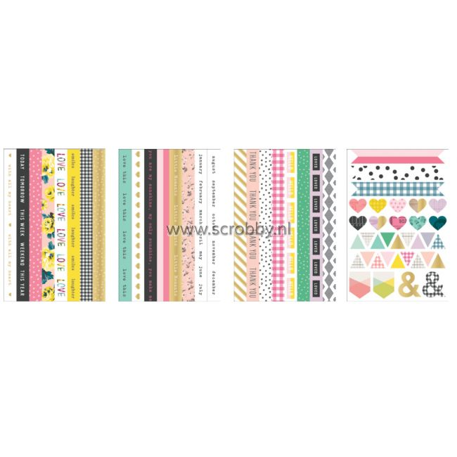 Crate Paper Maggie Holmes Bloom Stickers Washi Book