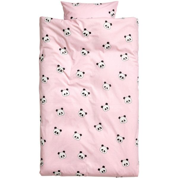 Animal-print Duvet Cover Set $24.99 ($25) ❤ liked on Polyvore featuring home, bed & bath, bedding, duvet covers, soft pink bedding, blush pink bedding, light pink bedding, patterned bedding and pink baby bedding