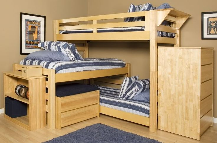 Triple Bunk Beds | TRIPLE LINDY BUNK BED...