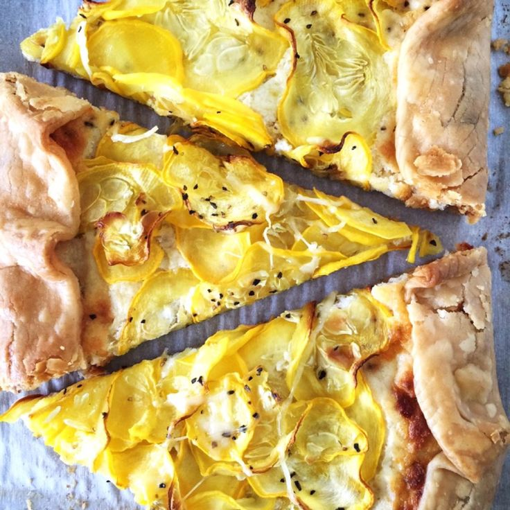 Have a bounty of squash from your garden? Use it up with this easy to make Ricotta & Squash Gallette.