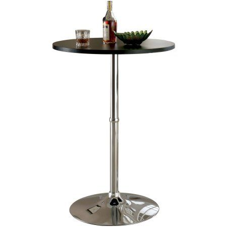 Furniture of America Weiss Contemporary Bar Table, Multiple Colors, Black