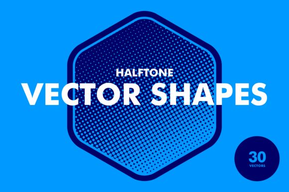 Halftone Vector Shapes by Offset on @creativemarket