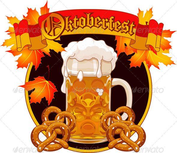 Oktoberfest Celebration Design #GraphicRiver Round Oktoberfest Celebration