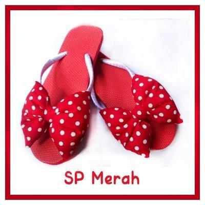 Sandal jepit wanita SP merah