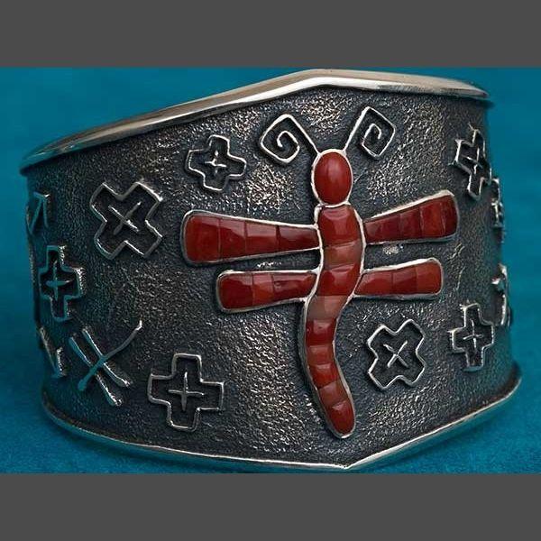 Native American coral Bracelet by Denipah LaRance Jewelry