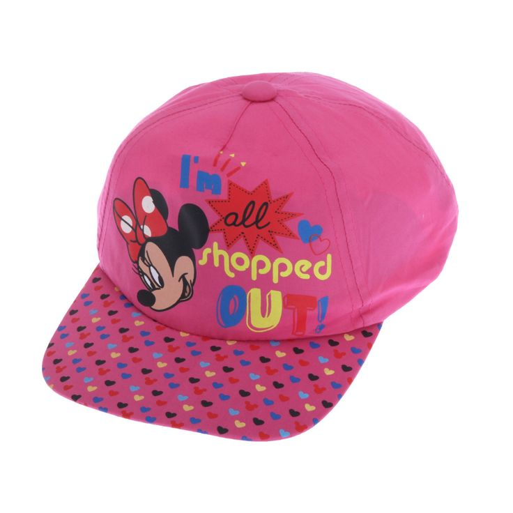 Childrens Little Girls Minnie Mouse All Shopped Out Baseball Cap (4-7 Years (22inch)) (Pink). Great quality kids cap. Perfect for any fan. Adjustable back for comfort and to adjust around your childs head. Made with 100% Cotton. Machine washable.