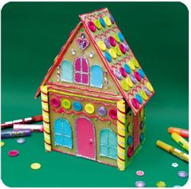 Şeker Evim; Evde kullandığınız kutu ve ambalajları atmayın, bir yerde saklayın. Birgün karşınıza mutlaka onları değerlendirecek bir proje çıkacaktır. İşte bu projemizde de eski bir cd kutusunu çok 'şeker' bir hediye kutusuna dönüştüreceğiz...