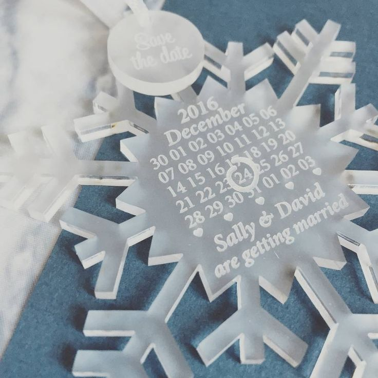 Snowflake Save The Dates