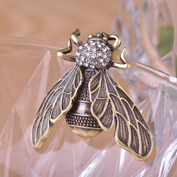 Cicada Brooches Pin Brooch Vintage Hat Accessories Scarf Clips Shoulder Decoration for women Party Anti Bronze Plated Rhinestone Only $16.10  => Save up to 60% and Free Shipping => Order Now! #Ring #Jewelry #woman #fashion